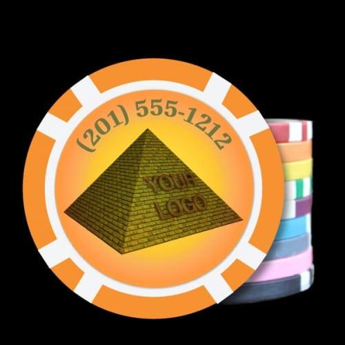 Custom-Poker-Chips-Business-Promo-Orange-500x500